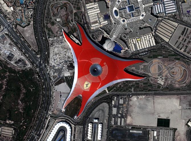 페라리월드, UAE (2015년10월26일 촬영) - 한국항공우주연구원 제공